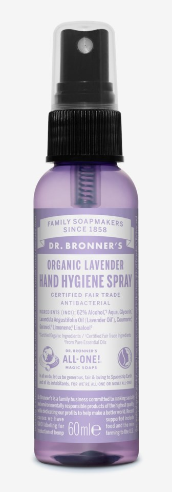 Organic Hand Sanitizing Spray Lavender