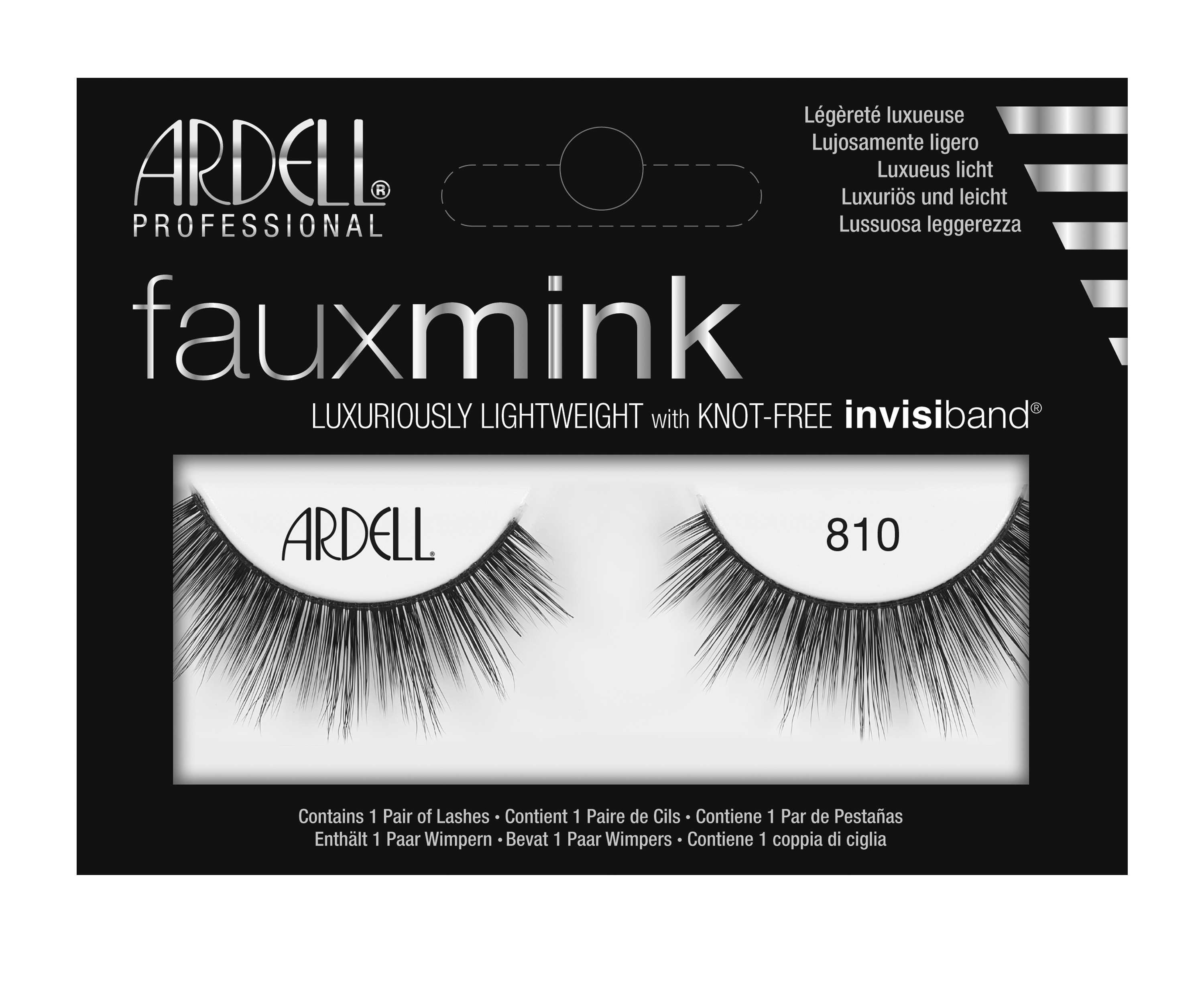 Faux Mink False Lashes 810 Black
