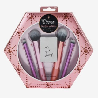 Metallic Dimension Makeup Brushes Gift Box
