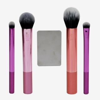 Metallic Dimension Makeup Brushes Gift Box