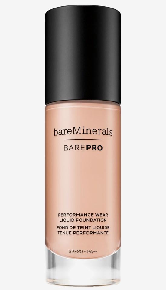 BarePRO Performance Wear Liquid SPF 20 Foundation 0.5Porcelain