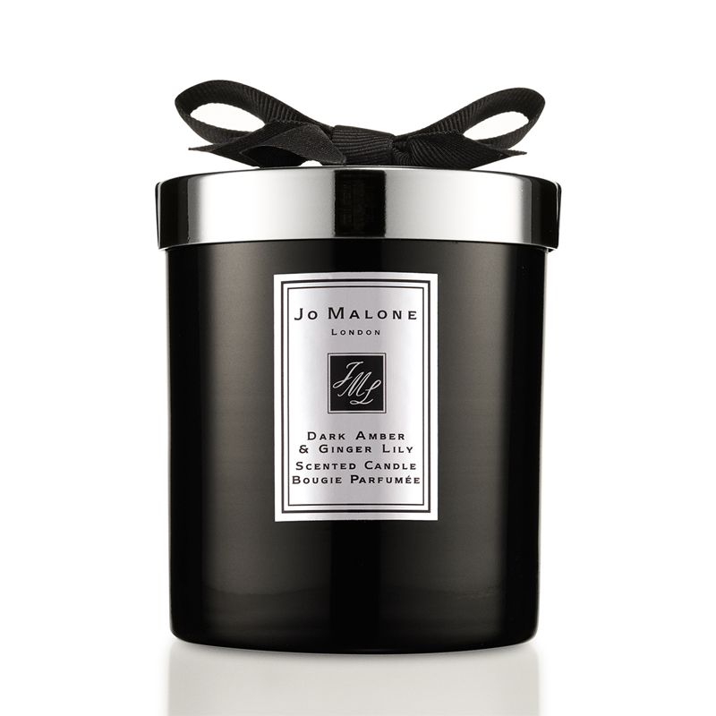 Dark Amber & Ginger Lily Scented Candle