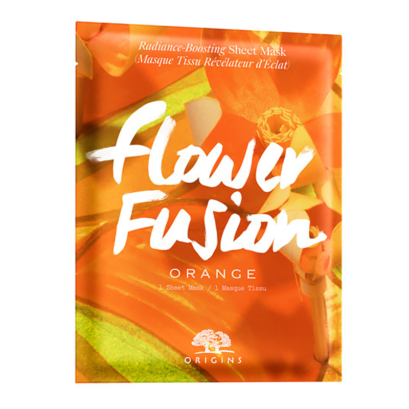 Flower Fusion Orange Radiance-Boosting Sheet Mask