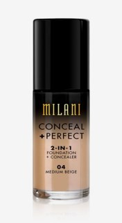 Conceal + Perfect Liquid Foundation 04 Medium Beige