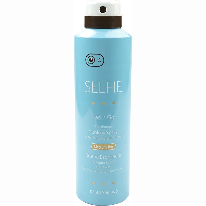 Selfie Tan'n Go Continuous Sunless Spray with Immediate Bronzers 177ml