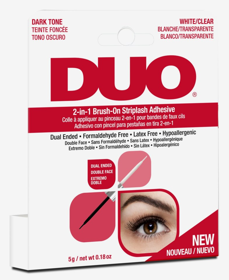 DUO 2-In-1 Brush On Lash Adhesive Dark/Clear