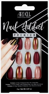 Nail Addict Artifical Nails Red Cateye
