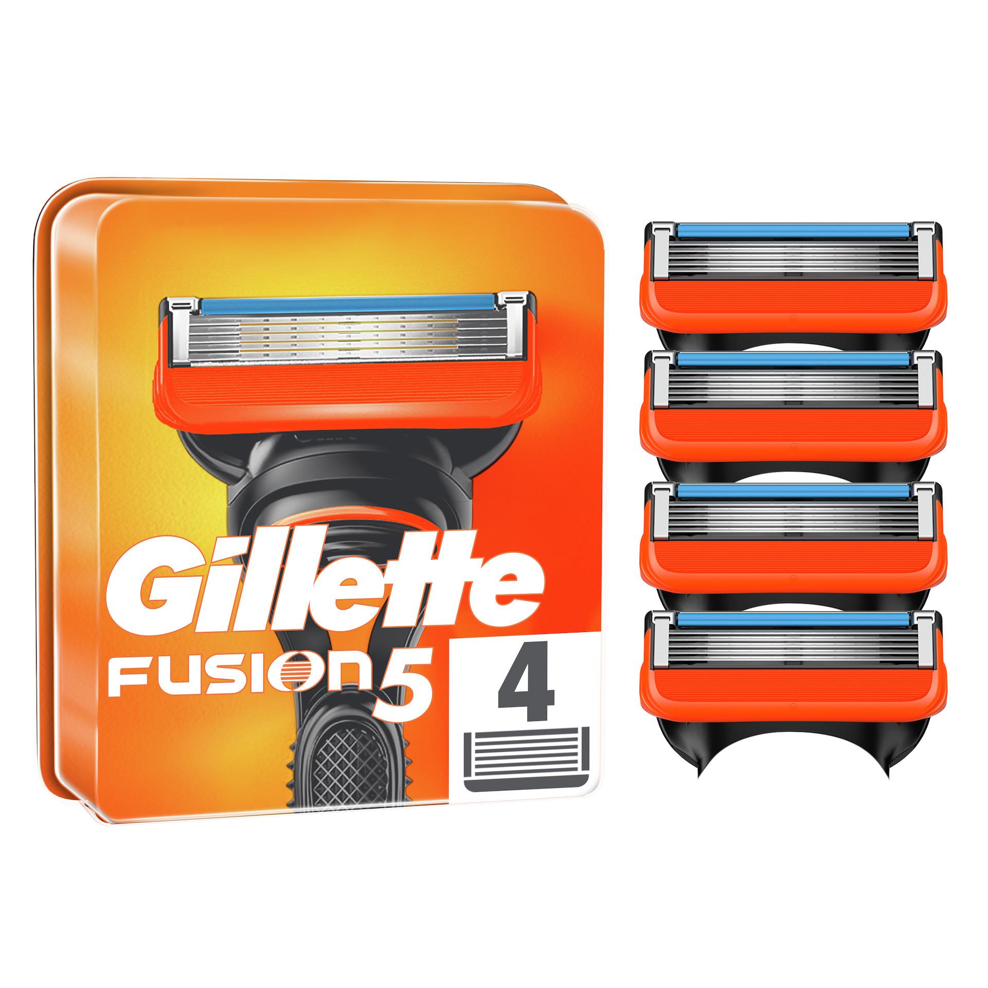 Fusion5 rakblad för män 4st