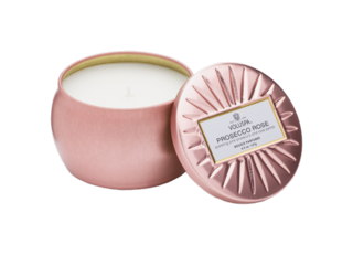 Prosecco Rose Decorative Candle Prosecco Rose minitin Candle