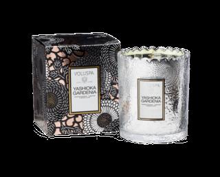 Yashioka Gardenia Scalloped Candlepot Scented Candle