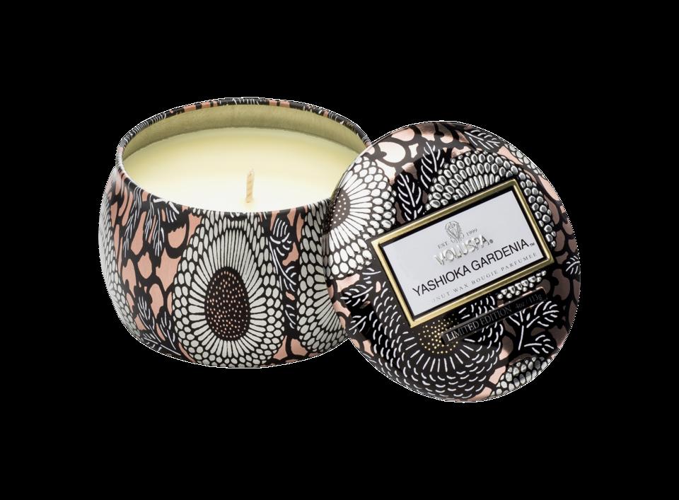 Yashioka Gardenia Tin Scented Candle