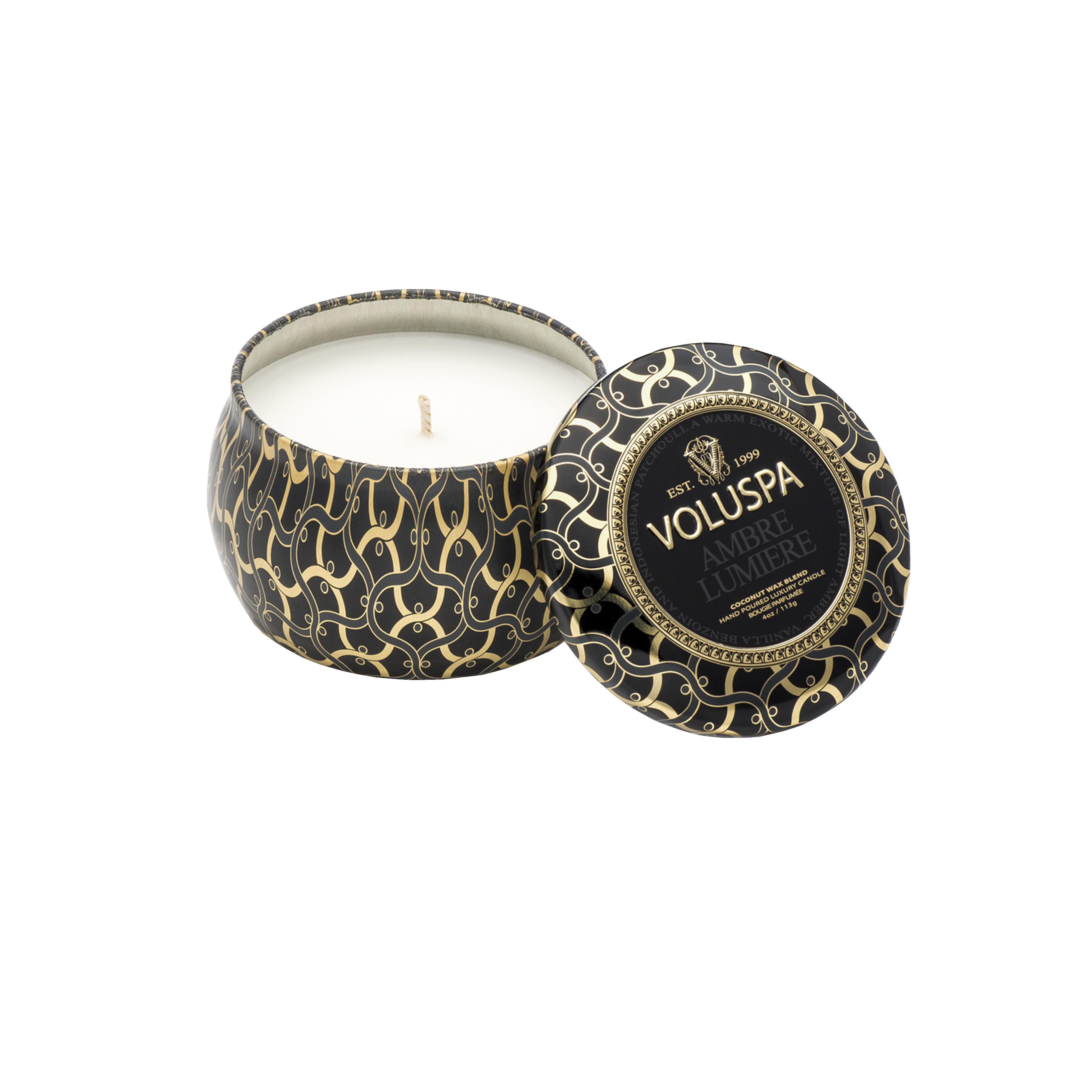 Ambre Lumiere Decorative Minitin Scented Candle
