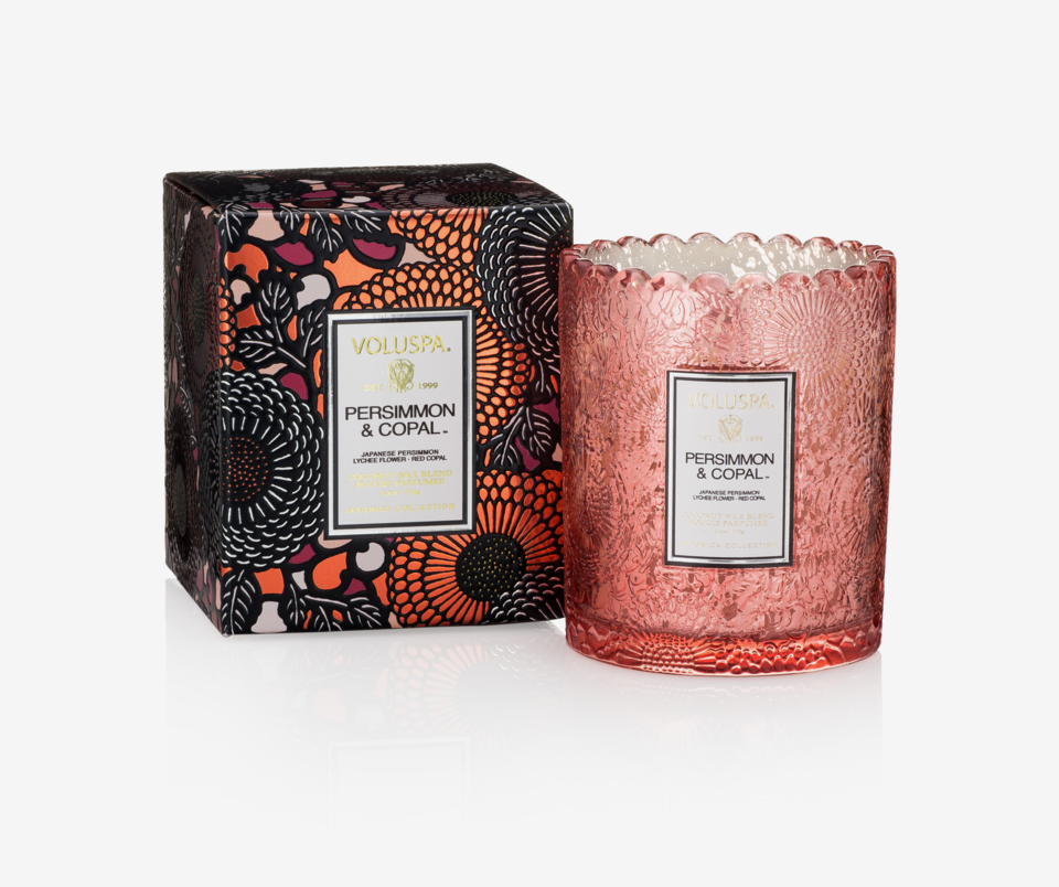 Persimmon & Copal Scalloped Candlepot Scented Candle