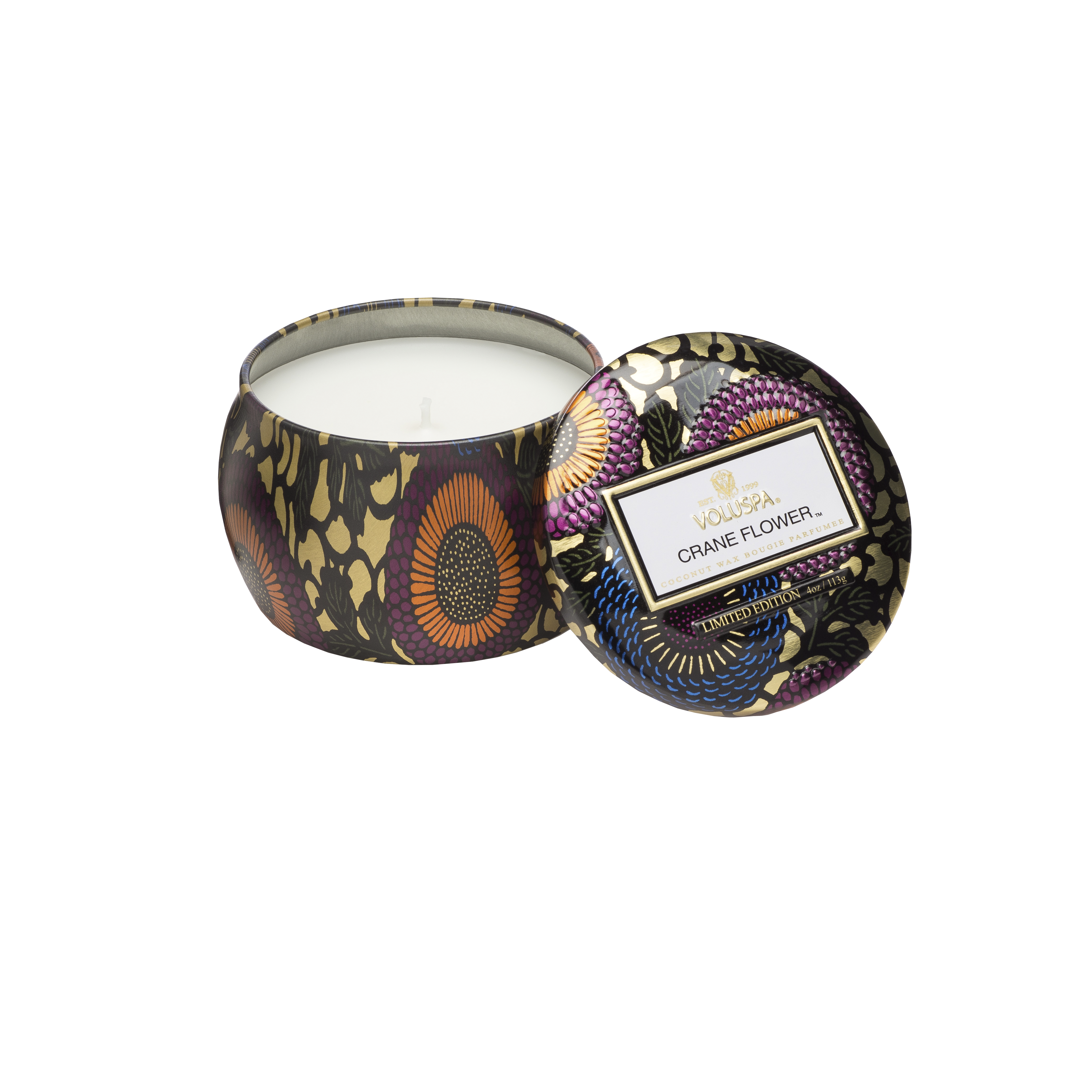 Crane Flower Tin Scented Candle