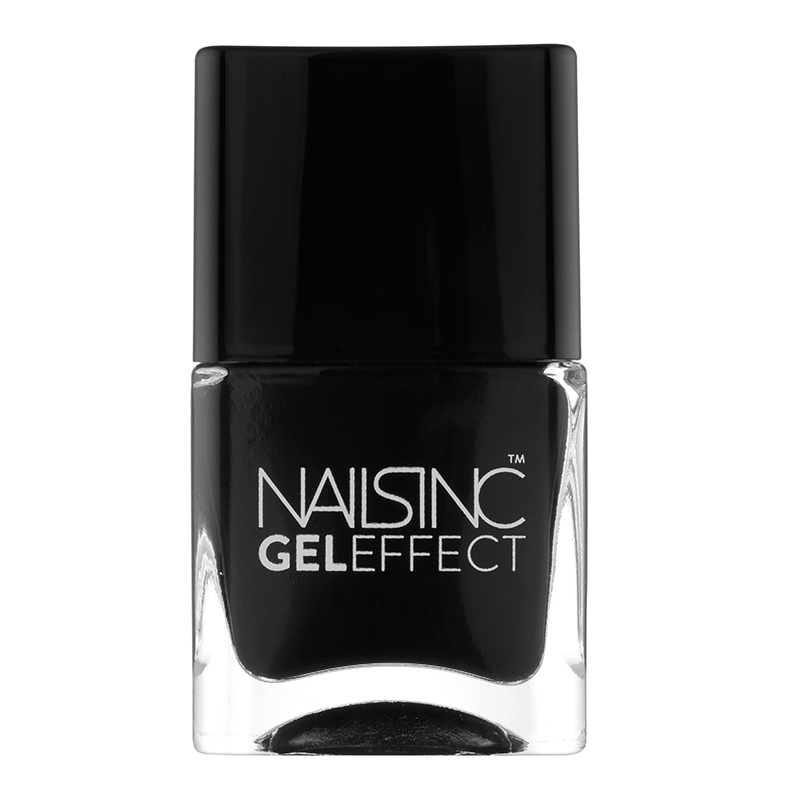 NailsInc Gel Effect Nail Polish – Black Taxi