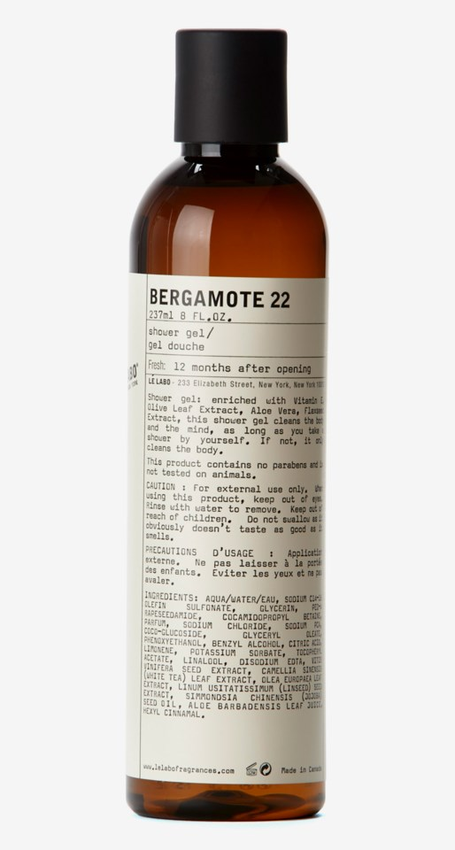 Bergamote 22 Shower Gel 237 ml