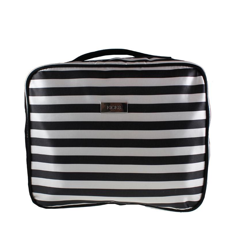 Cosmetic Bag Stripes White/Black White/Black