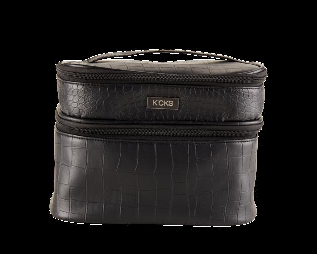 Necessärer   sminkväskor. Cosmetic Bag Croco Black 1101266e99dcb
