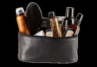 Cosmetic Bag Croco Black