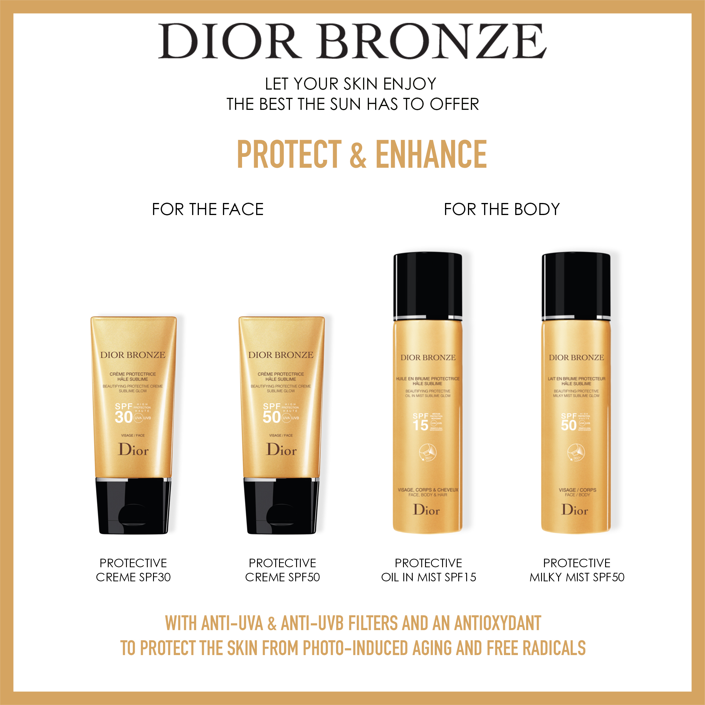 Diorbronze Face Protect Creme SPF30 50 ml