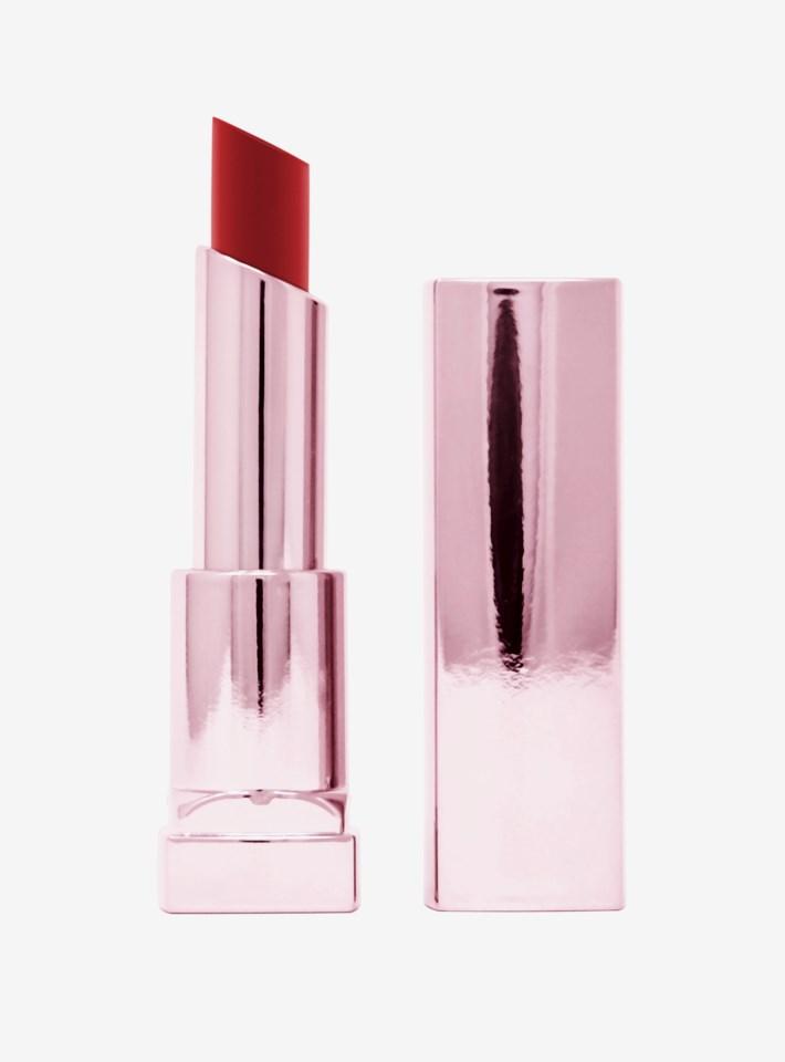 Color Sensational Shine Compulsion Lipstick 90 Scarlet Flame