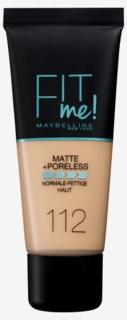 Fit me Matte & Poreless Foundation 112 Soft Beige