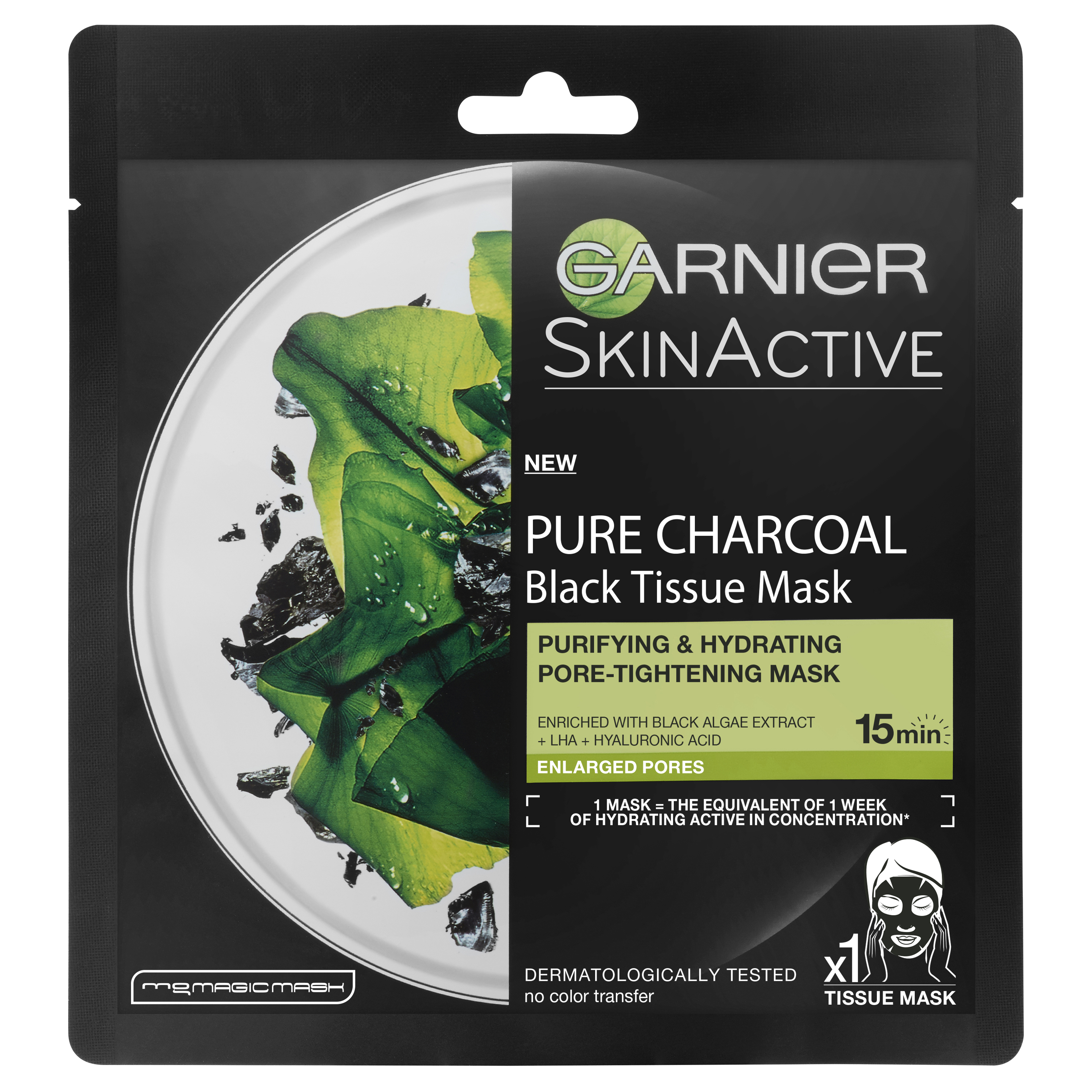 SkinActive Pure Charcoal Black Tissue Mask