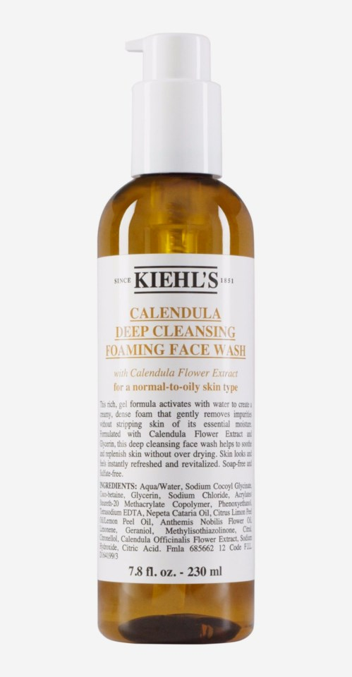 Calendula Foaming Wash Calendula Deep Cleansing Foaming Face Wash