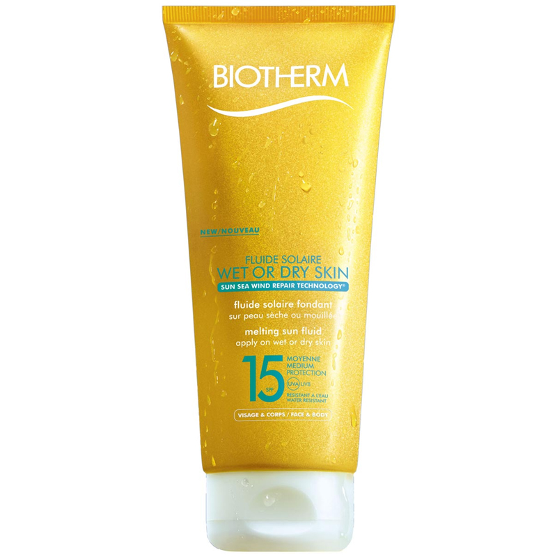 Fluide Solaire Wet or Dry Skin SPF 15