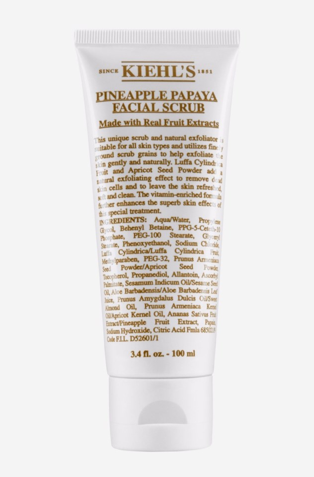 Pineapple Papaya Facial Scrub 100 ml