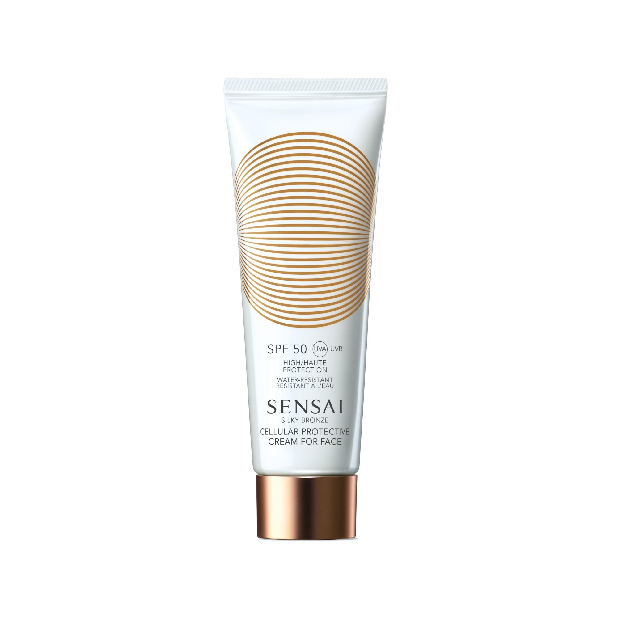 Silky Bronze Protective Cream for Face SPF 50