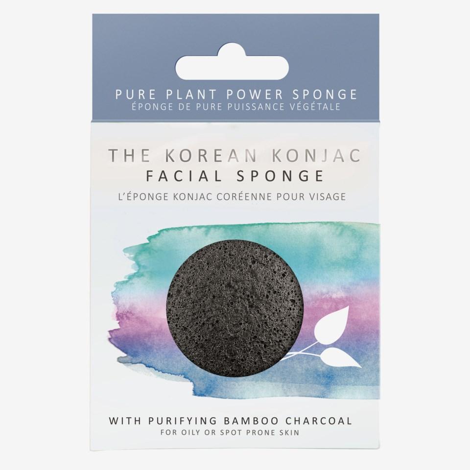 Premium Facial Puff Konjac Sponge Bamboo Charcoal