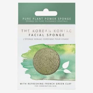 Premium Facial Puff Konjac Sponge Green Clay