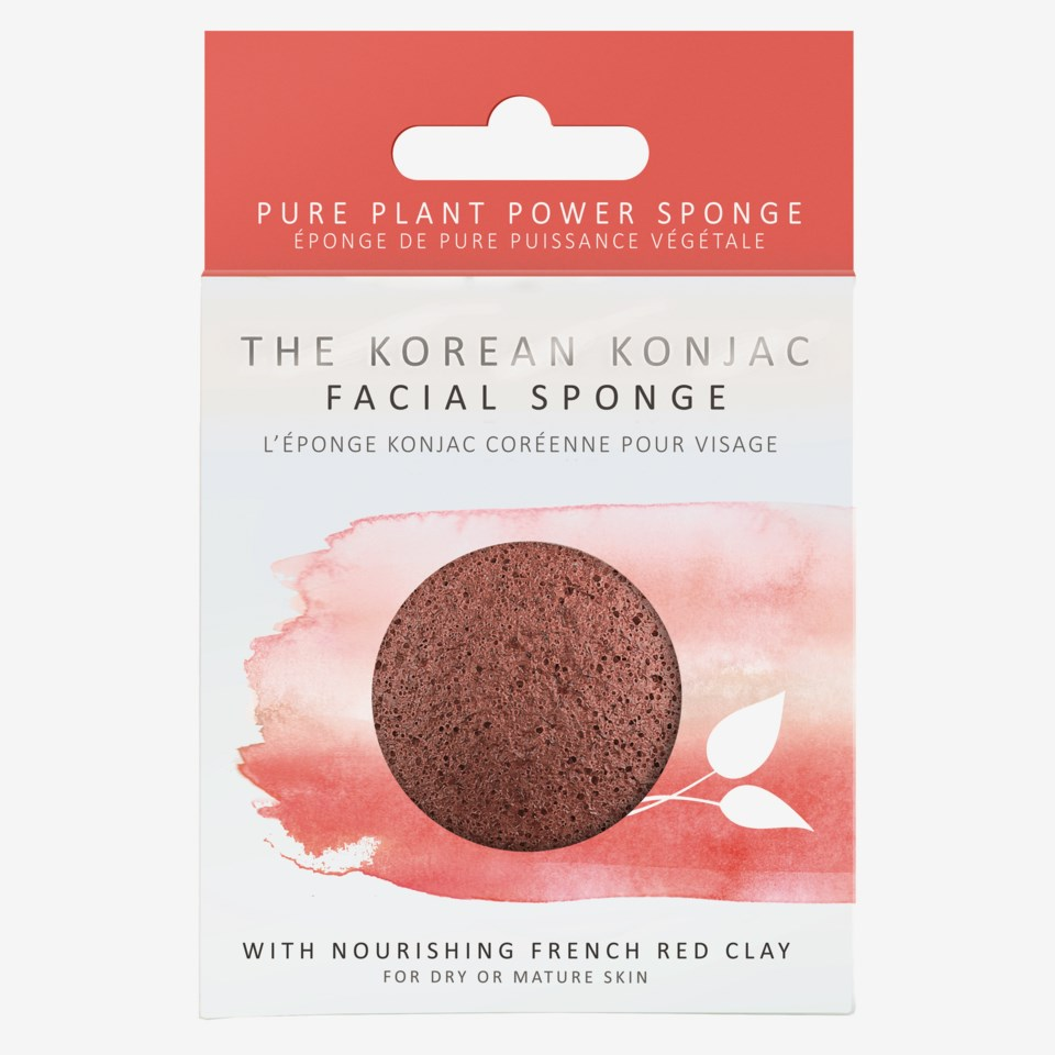 Premium Facial Puff Konjac Sponge Red Clay