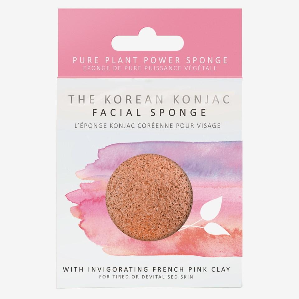 Premium Facial Puff Konjac Sponge Pink Clay