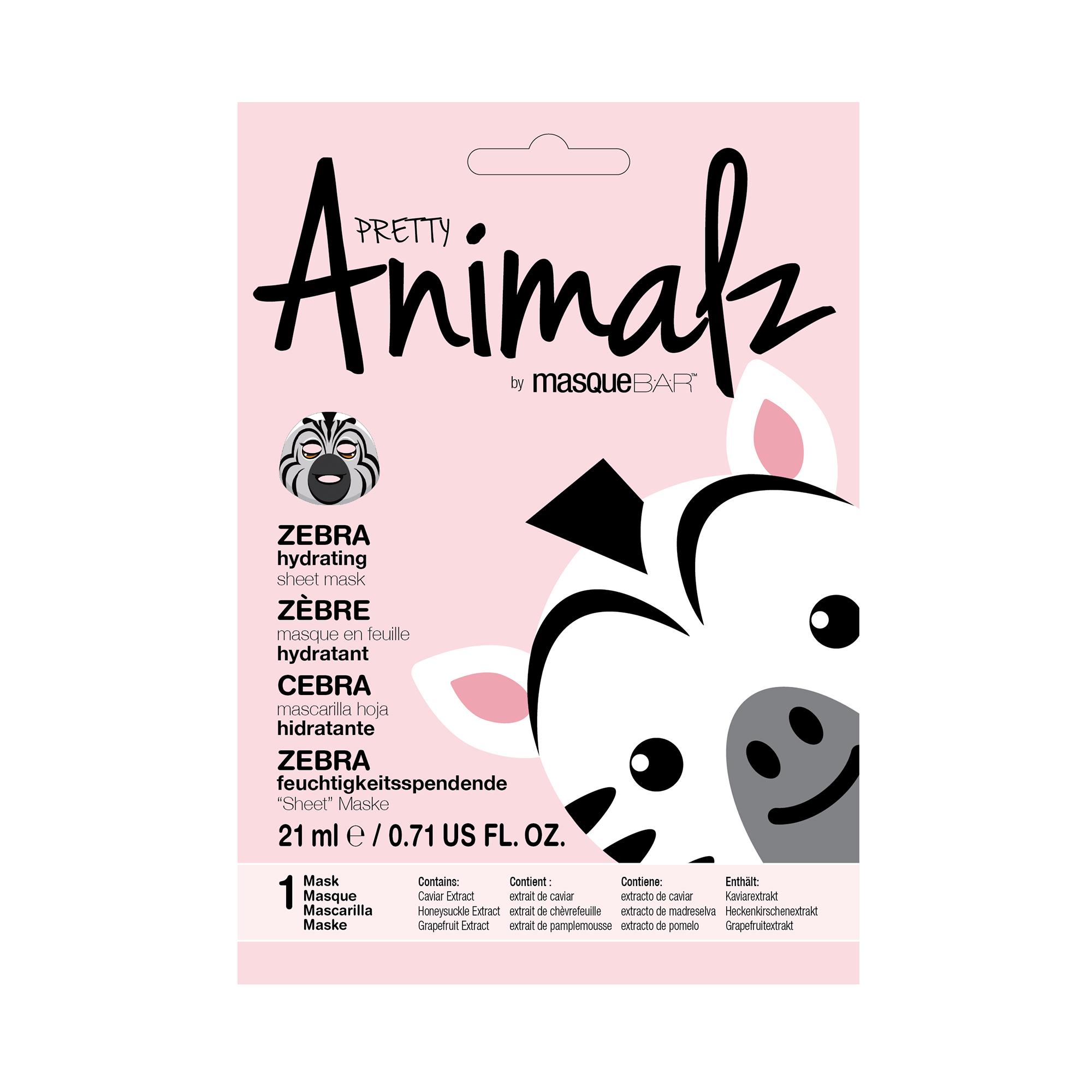 Animalz Zebra Sheet Mask masque B.A.R Animalz Zebra Sheet Mask Facial masks