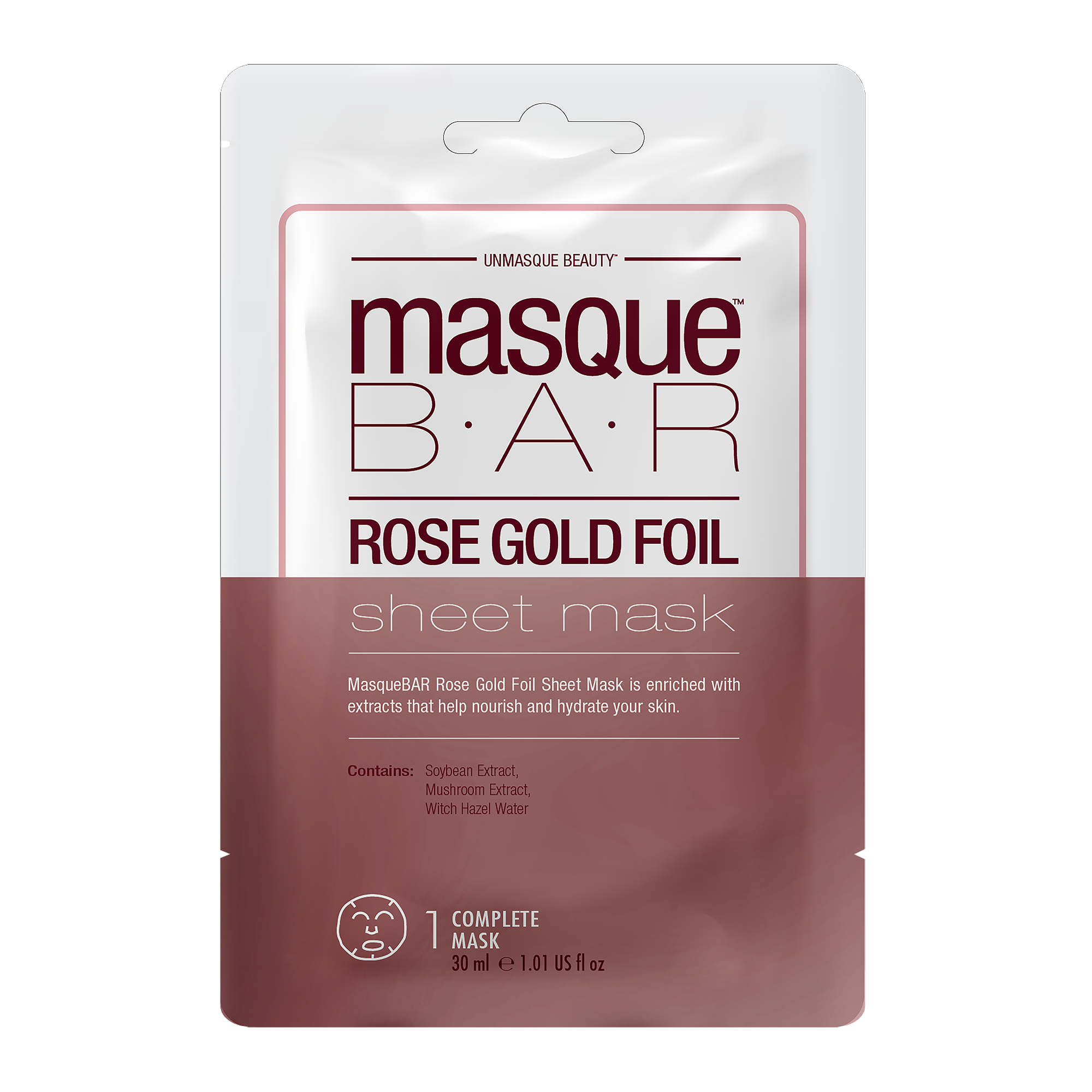 Foil Rosé Gold Sheet Mask