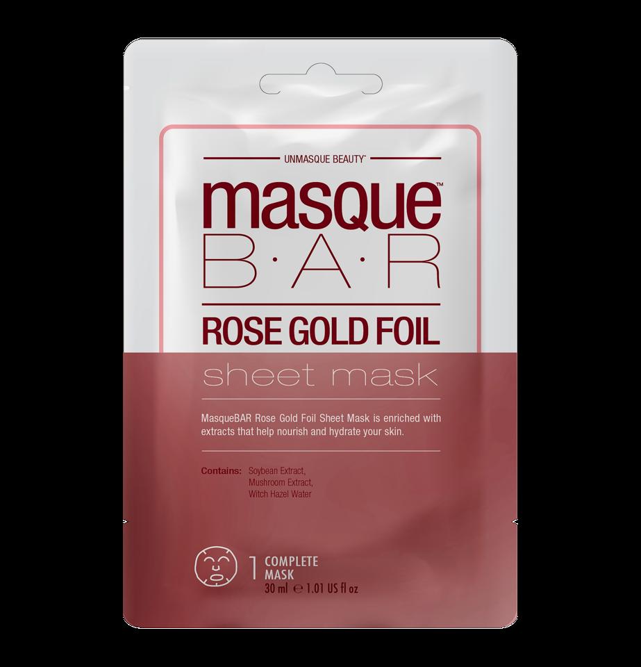 Foil Rosé Gold Sheet Mask