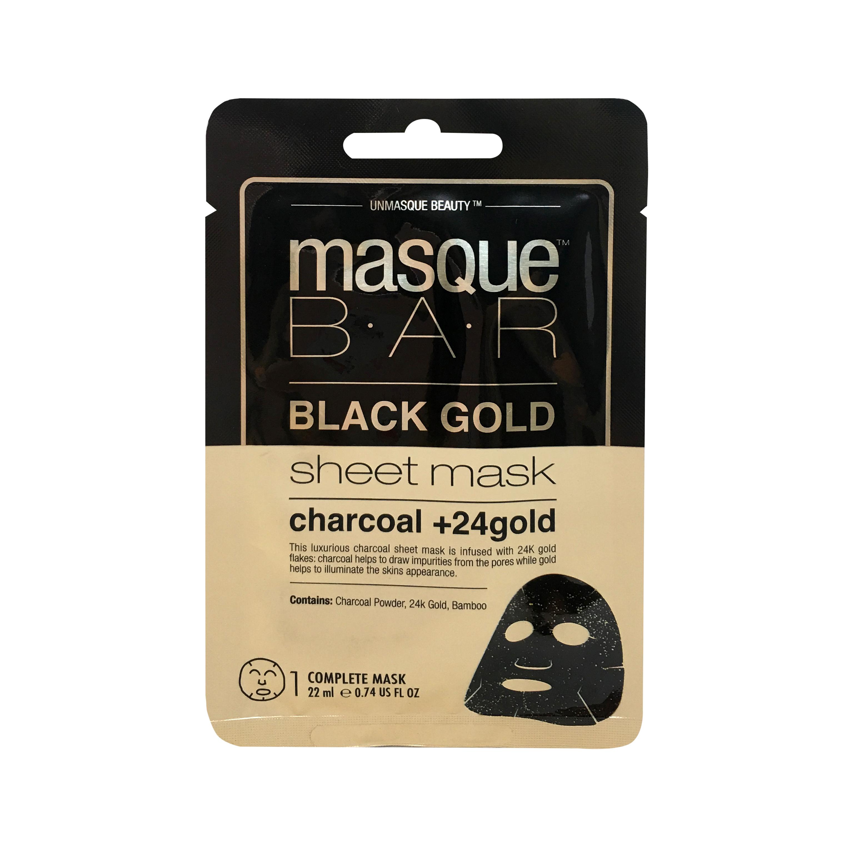Black Gold Charcoal + 24K Gold Sheet Mask