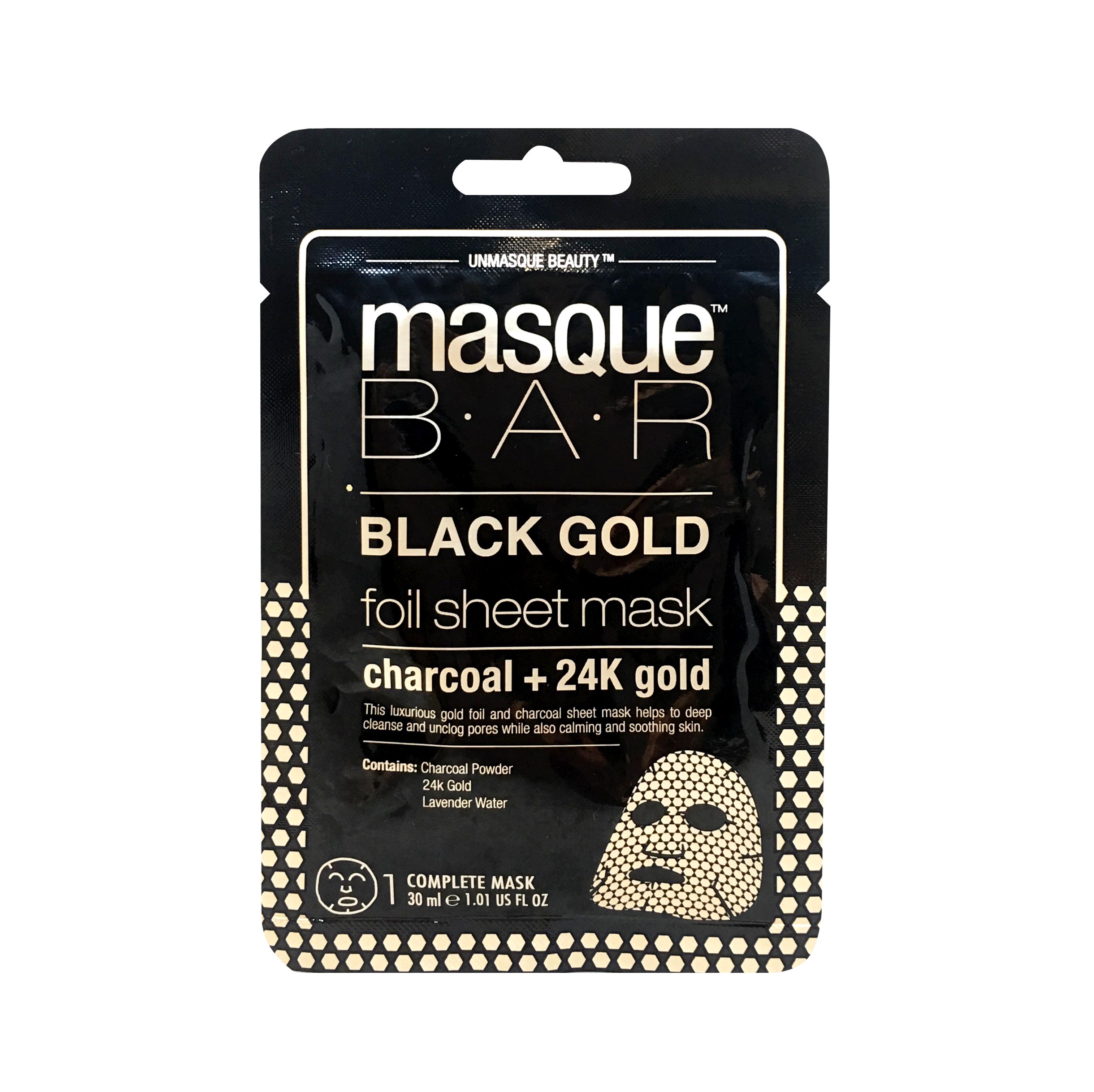 Black Gold Foil Charcoal + 24K Gold Sheet Mask 21ml