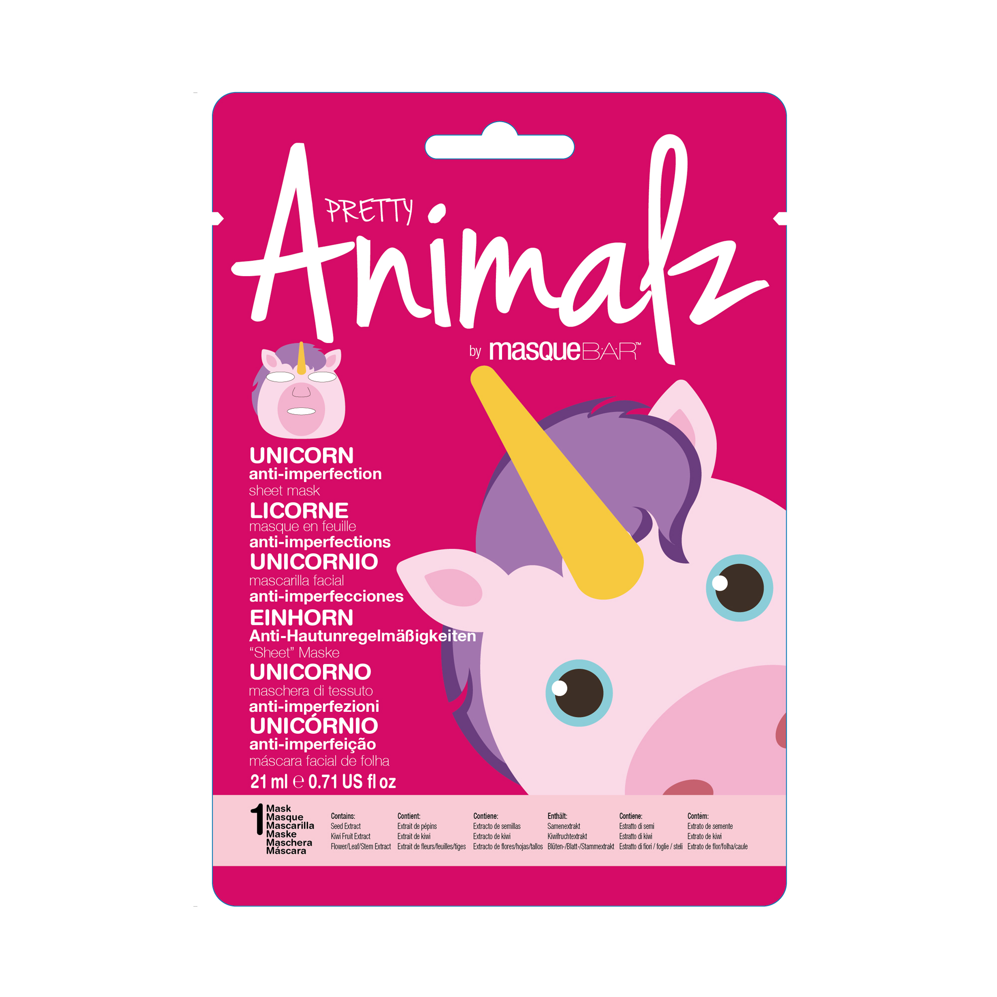 Animalz Unicorn Sheet Mask 21ml