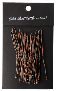 U Hair Pins 20-P Brown
