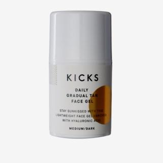 KICKS Beauty vegansk hudvård. Daily Gradual Tan Face Gel Medium Dark 88037ee6af063