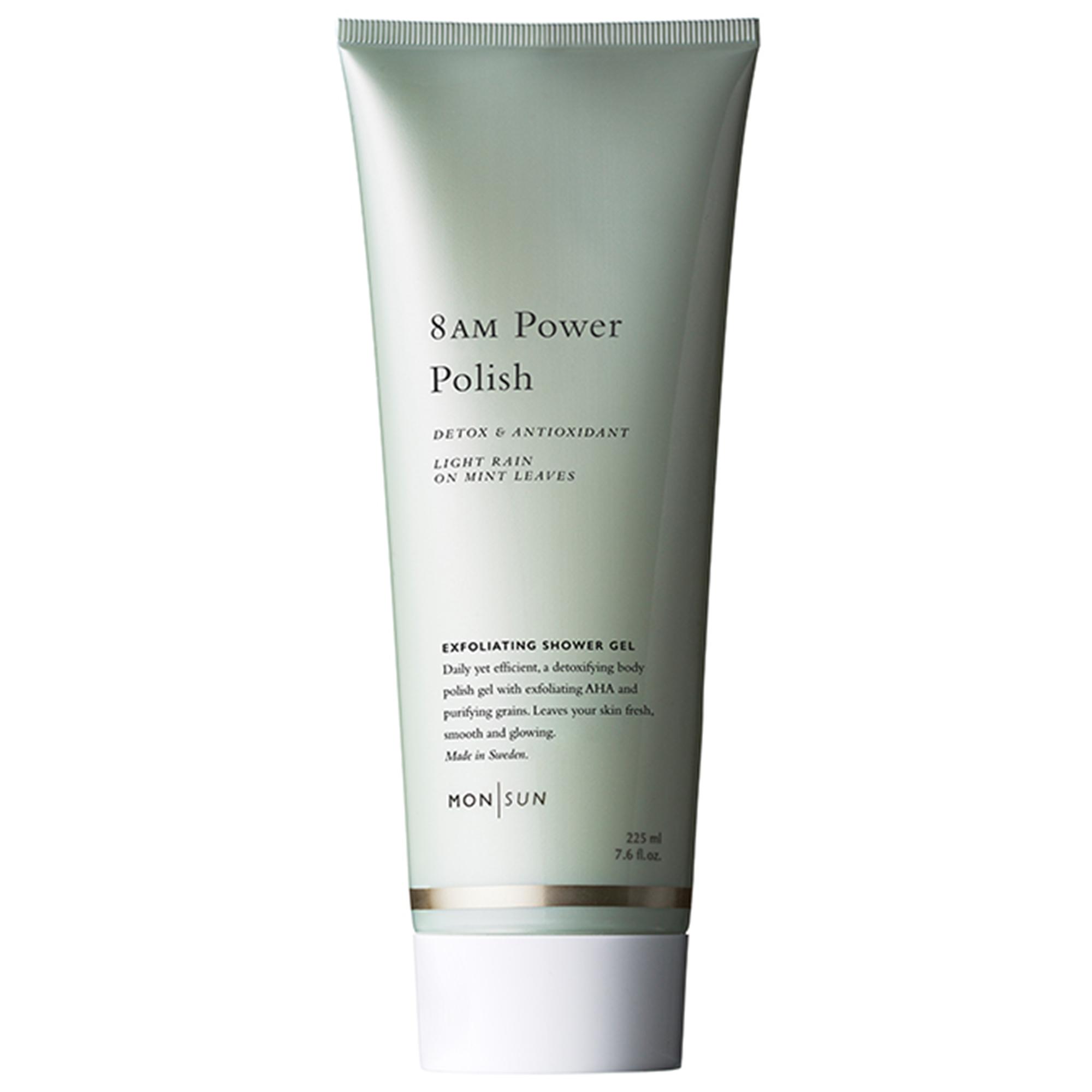 8AM Power-Polish Detox & Antioxidant Exfoliating Shower Gel 225ml