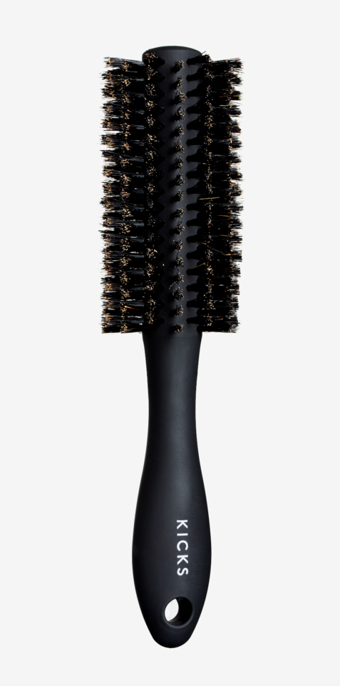 Curl And Blow-Dry Brush Matte Black