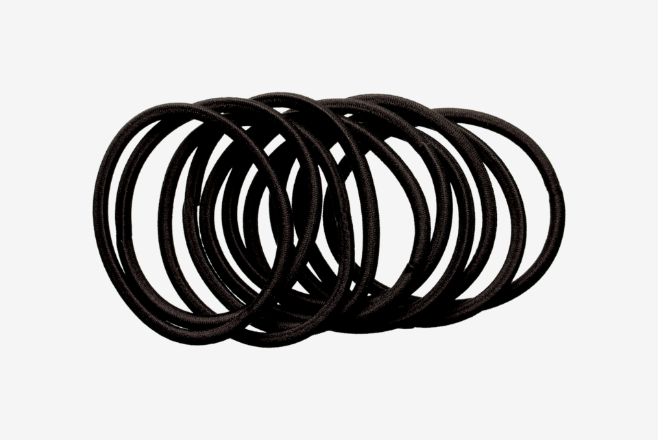 Hair Elastics Black 10-pack