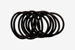 Hair Elastics Black 10-pack