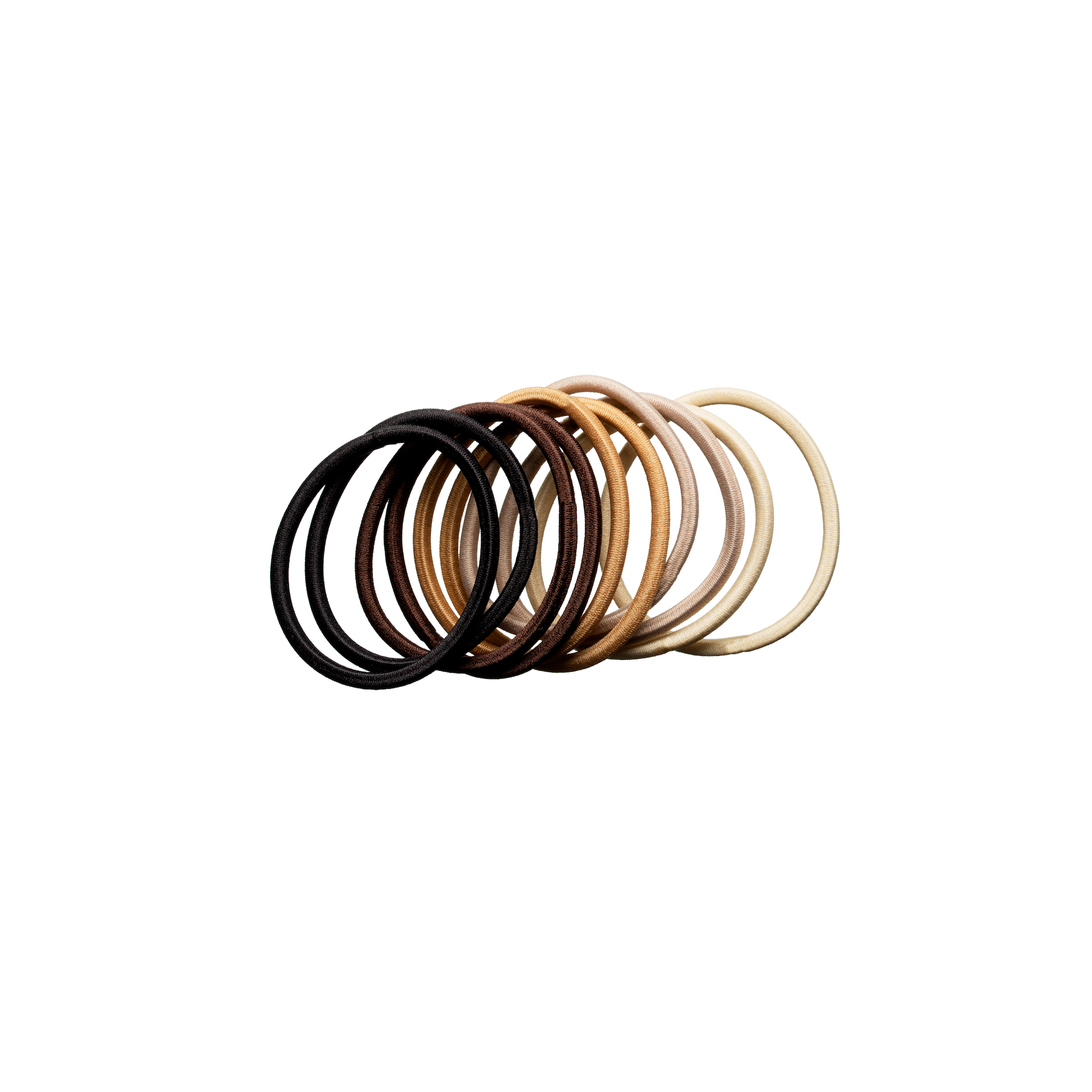 Hair Elastics Nude 10-pack