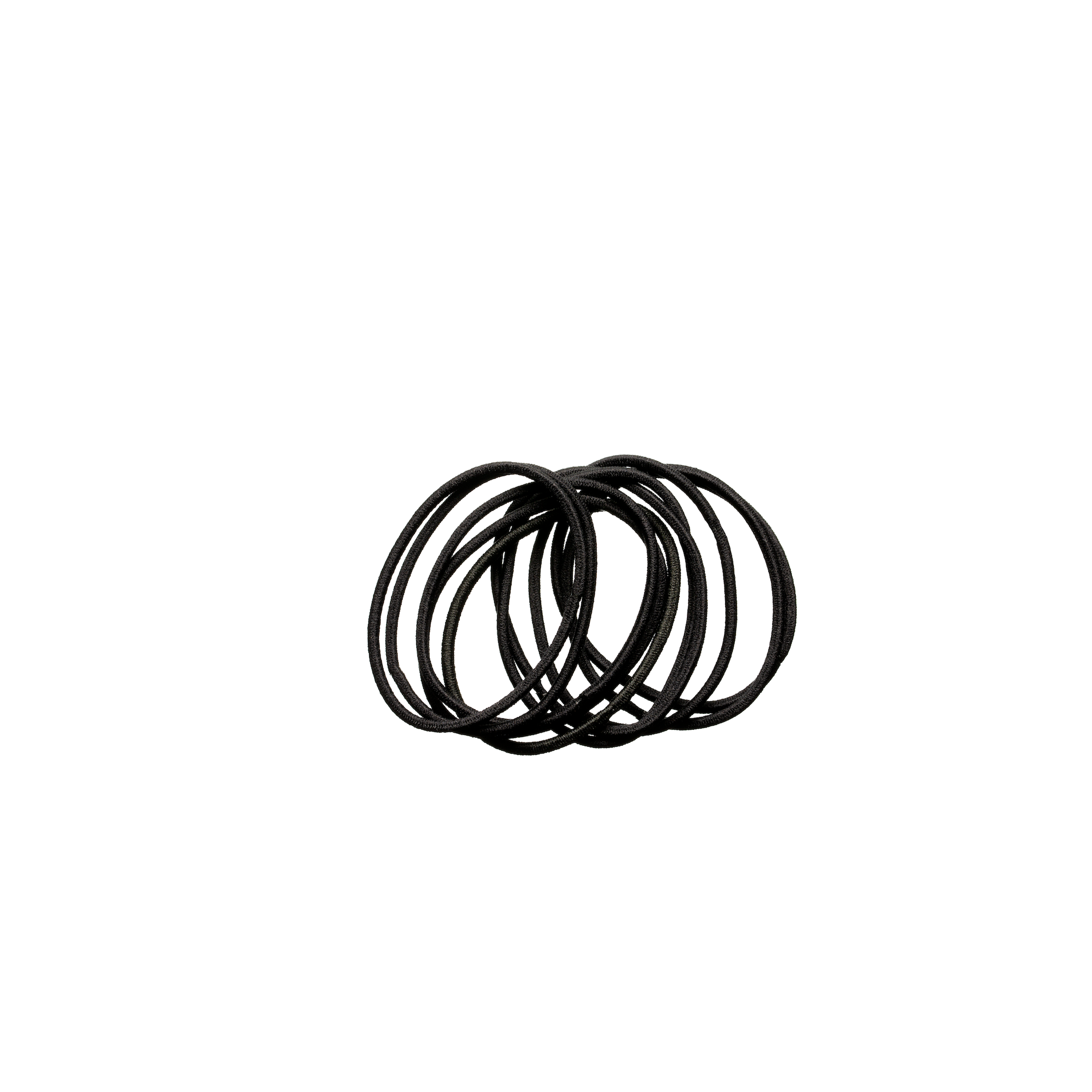 Thin Hair Elastics Black