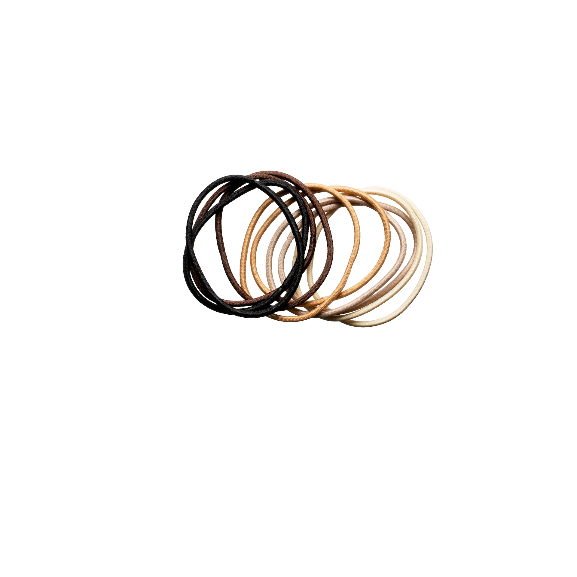 Thin Hair Elastics Nude 10-pack